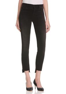 J Brand Mid Rise Zip Step Hem Crop Jeans in Black Rock - 100% Bloomingdale's Exclusive