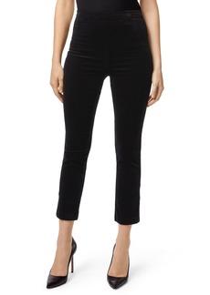 J Brand Natalie Velvet High Waist Crop Skinny Pants