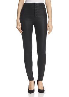 J Brand Natasha Button Sky High Coated Skinny Jeans in Fearless