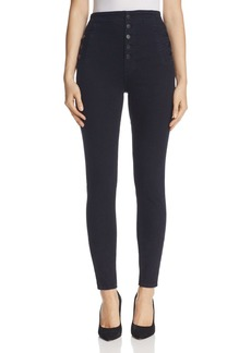 J Brand Natasha Button Sky High Skinny Jeans in Bluebird
