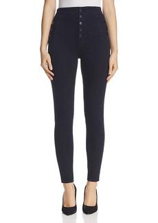 J Brand Natasha Button Sky High Skinny Jeans in Bluebird
