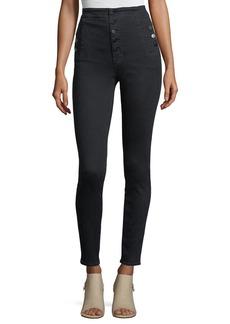 J Brand Natasha High-Waist Five-Button Skinny Jeans