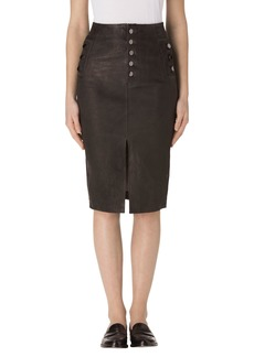 J Brand Natasha High Waist Leather Skirt