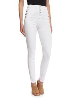 J Brand Natasha High-Waist Skinny Jeans  White