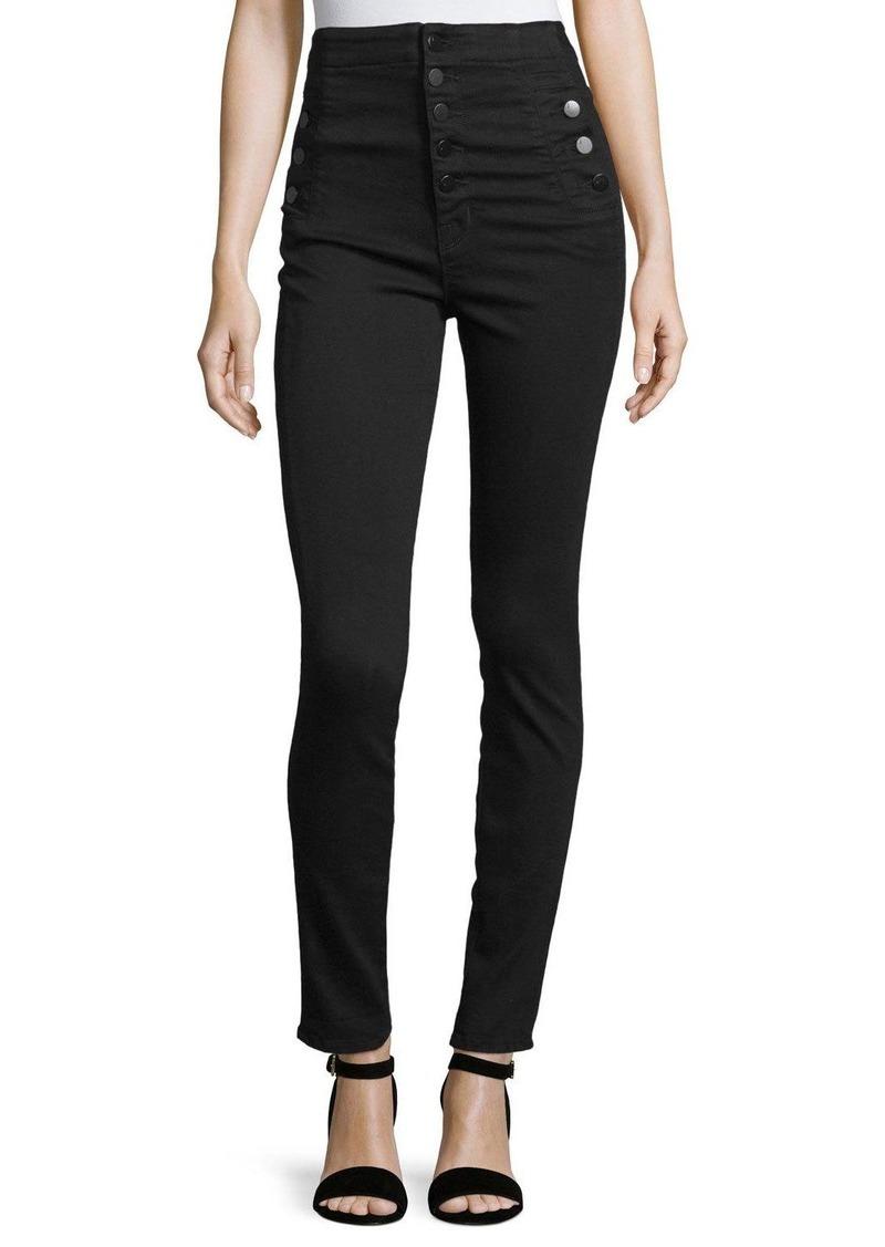 J Brand Natasha High-Waist Skinny Jeans  Black