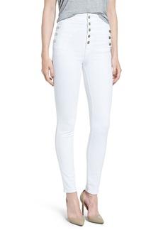 J Brand 'Natasha Sky High' High Rise Skinny Jeans (Blanc)