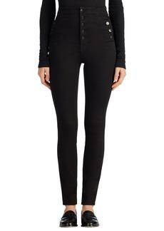 J Brand 'Natasha Sky High' High Rise Skinny Jeans (Seriously Black)
