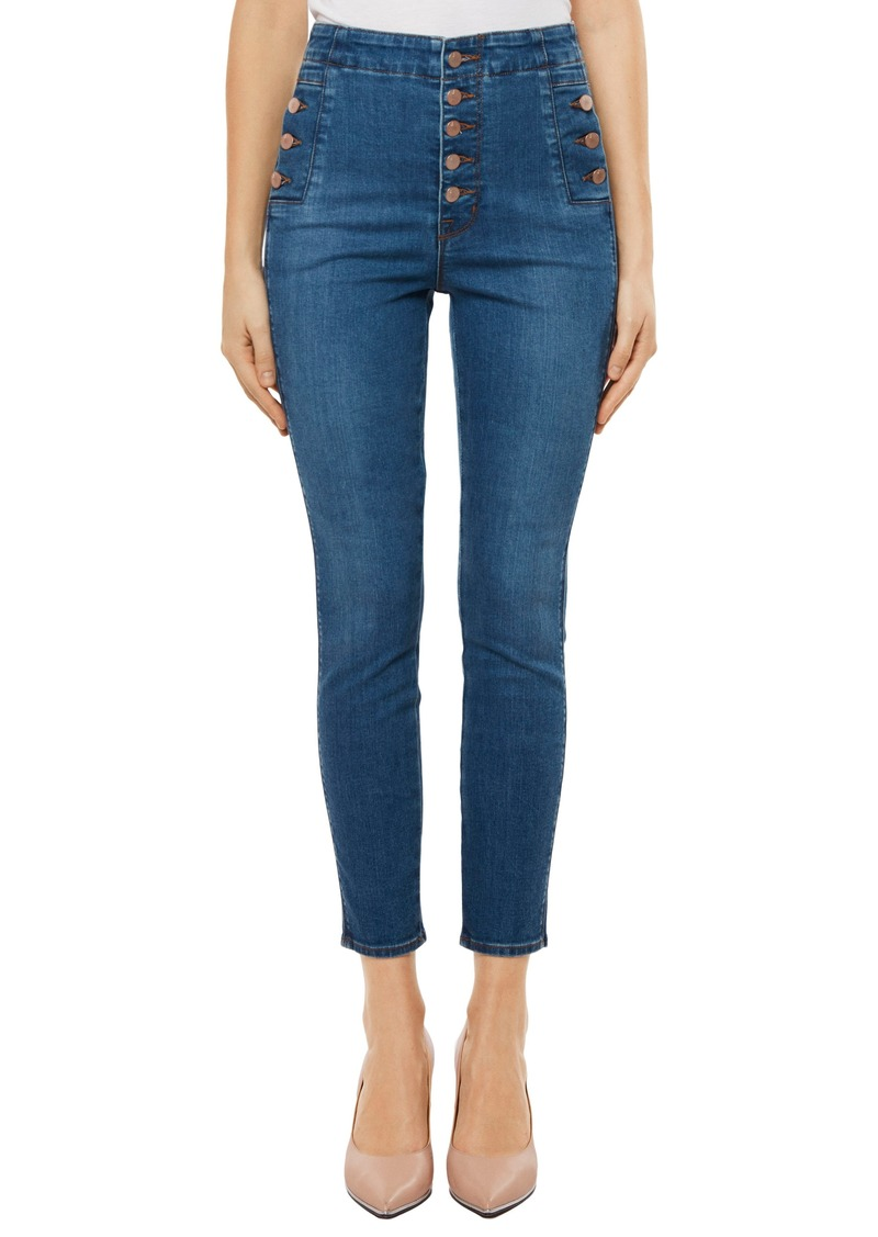 J Brand Natasha Sky High High Waist Crop Skinny Jeans (Lovesick)