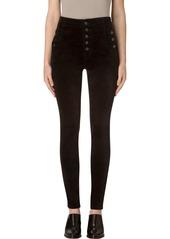 J Brand Natasha Sky High Velvet Skinny Pants