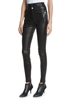 J Brand Natasha Sky High Leather Skinny Pants