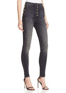 J Brand Natasha Sky High Skinny Jeans in Anthracite