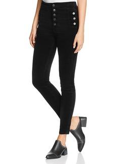 J Brand Natasha Sky-High Skinny Jeans in Black