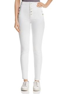 J Brand Natasha Sky-High Skinny Jeans in Blanc
