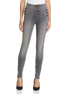 J Brand Natasha Sky High Skinny Jeans in Earl Grey