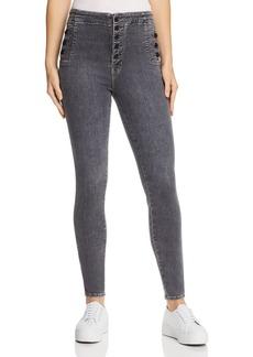 J Brand Natasha Sky High Skinny Jeans in Obscura