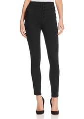 J Brand Natasha Sky High Skinny Jeans in Seriously Black
