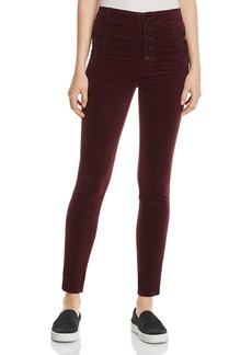 J Brand Natasha Super Skinny Velvet Jeans in Deep Mulberry - 100% Exclusive