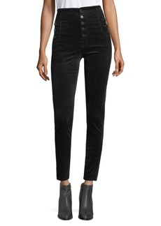 J Brand Natasha Velvet High-Rise Skinny Pants