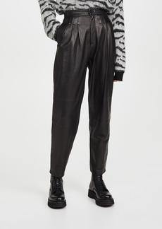 J Brand Nila Leather Pleated Trousers