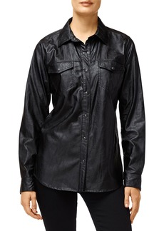 J Brand Perfect Faux-Leather Shirt