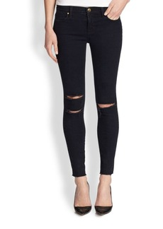 8227 Mid-Rise Distressed Ankle Skinny