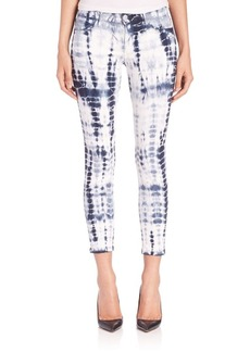 J BRAND Photo Ready Tie-Dye Mid-Rise Capri Jeans