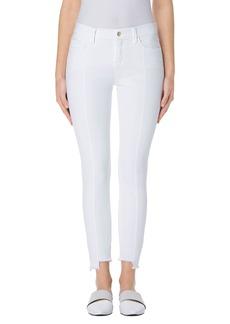 J Brand Pintuck Step Hem Skinny Jeans (Blanc)