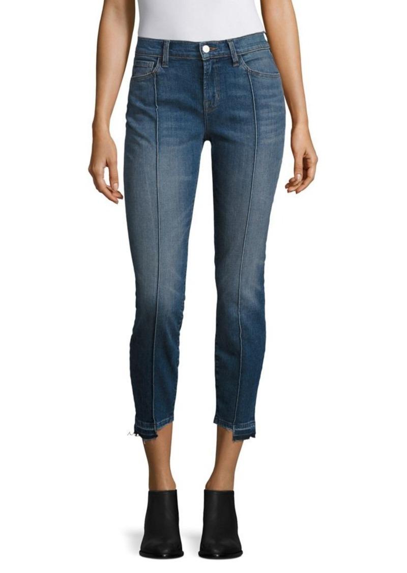 J BRAND Pintucked Step Hem Skinny Jeans/Repose