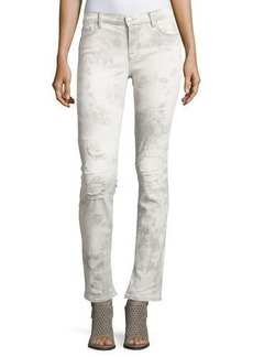 J Brand Rail Distressed Straight-Leg Jeans