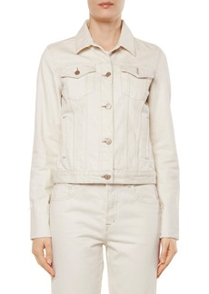 J Brand Raw Edge Cuff Denim Jacket
