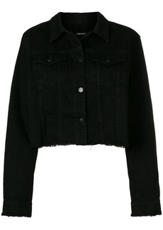 J Brand raw edge denim jacket - Black
