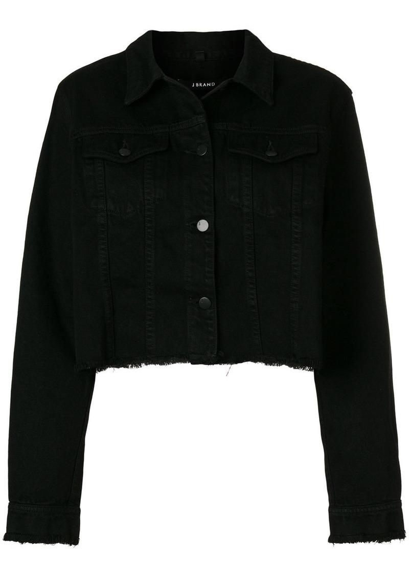 J Brand raw edge denim jacket - Black
