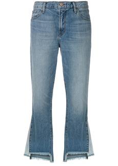 J Brand raw edge flared jeans - Blue