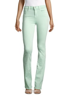 Remy High-Waist Jeans/Sea Green