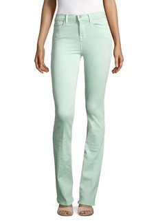 J BRAND Remy High-Waist Jeans/Sea Green