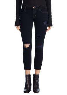 J Brand Ripped Crop Skinny Jeans (Indigo Exposure)