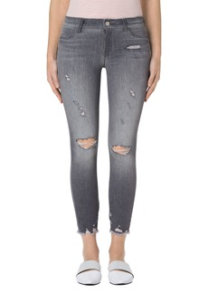 J Brand Ripped Crop Skinny Jeans (Provocateur Destruct)