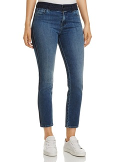 J Brand Ruby Crop Straight-Leg Jeans in Point Blank