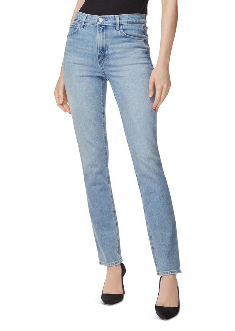 J Brand Ruby High-Rise Cigarette Jeans in Marcella