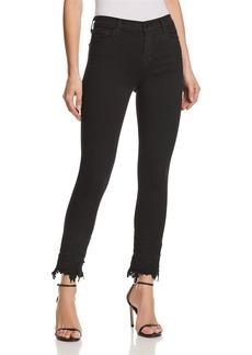 J Brand Ruby High Rise Crop Cigarette Jeans in Black Lace