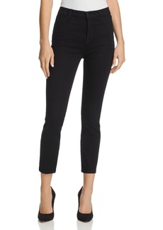 J Brand Ruby High Rise Crop Jeans in Shadow Black