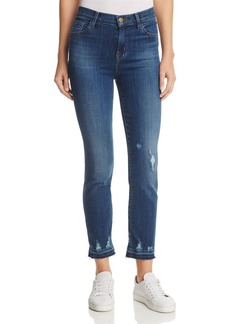 J Brand Ruby High Rise Crop Jeans in Tonic