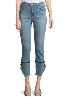 J Brand Ruby High-Rise Cropped Cigarette Jeans  Patriot