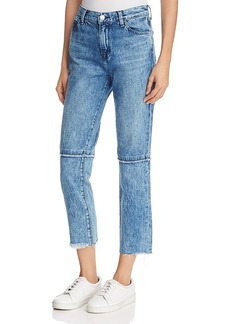 J Brand Ruby High-Rise Cropped Jeans in Satellite