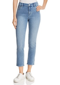 J Brand Ruby High-Rise Cropped Jeans in Utopia