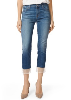 J Brand Ruby High Waist Crop Cigarette Jeans (Gossamer)