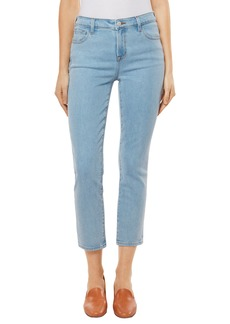 J Brand Ruby High Waist Crop Jeans (Silvery)
