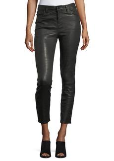 J Brand Ruby Lamb Leather Skinny-Leg Pants