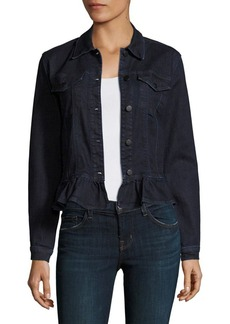 J BRAND Ruffled Denim Jacket
