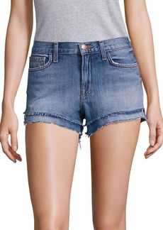 J BRAND Sachi Bleached Frayed Denim Shorts
